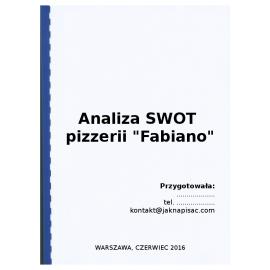 """Analiza SWOT pizzerii """"Fabiano"""""""