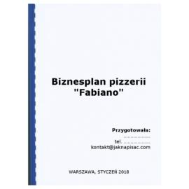 """Biznesplan pizzerii """"Fabiano"""""""
