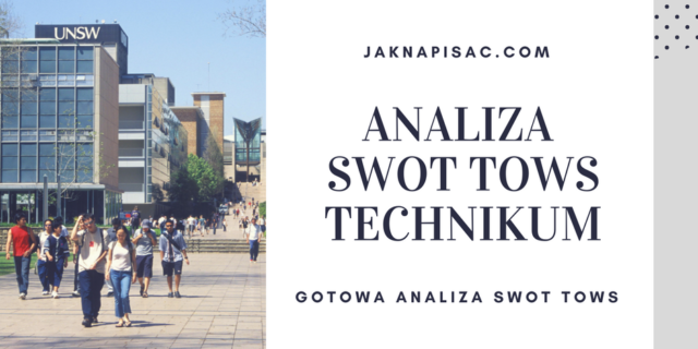 Analiza SWOT TOWS Technikum