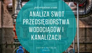 Analiza SWOT Przedsiębiorstwa Wodociągów i Kanalizacji