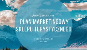 """Plan marketingowy sklepu turystycznego """"Gorool"""""""